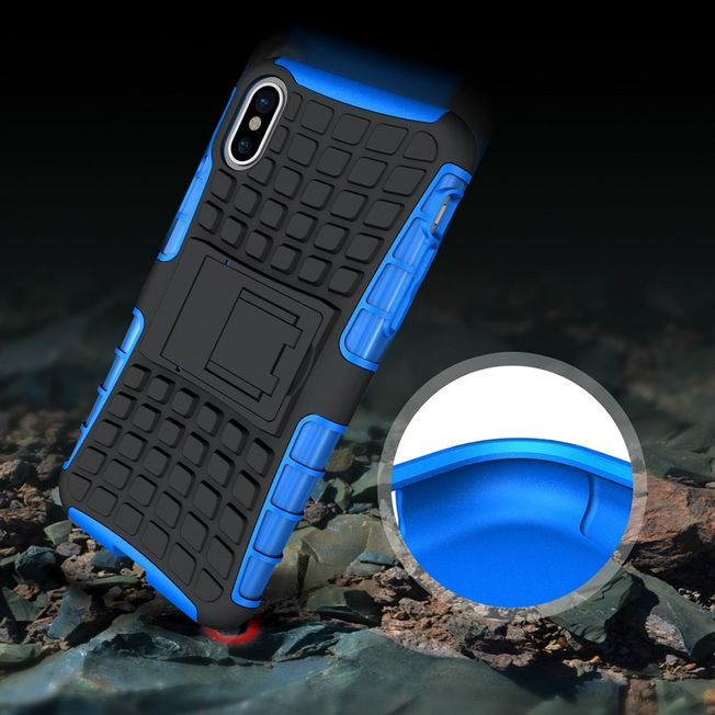 Iphone X TPU Cover Shockproof blau