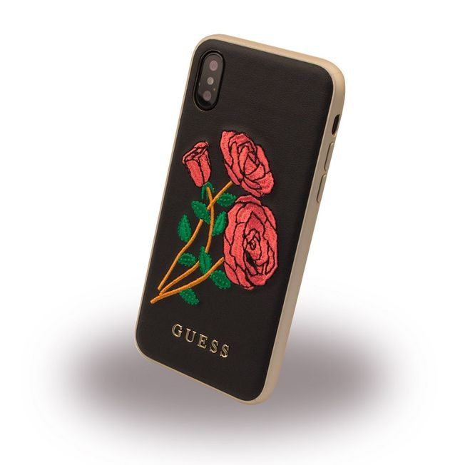 Iphone X - Guess Cover Rose black