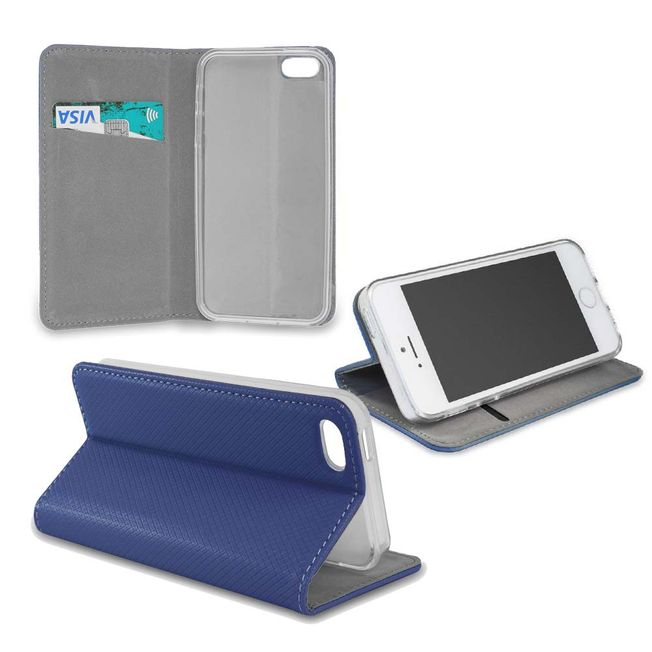 Iphone X Smart Magnet Wallet blau