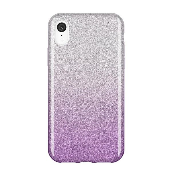 Iphone XR - Wozinsky Glitzer Case lila/ silber