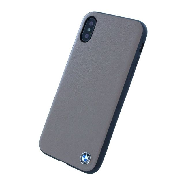 Iphone X - BMW Case Leder - gray