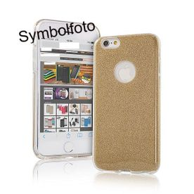 Samsung S10 Plus - Glitzer Cover 3in1 gold