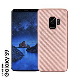Samsung S9 - TPU Cover rosegold Carbon