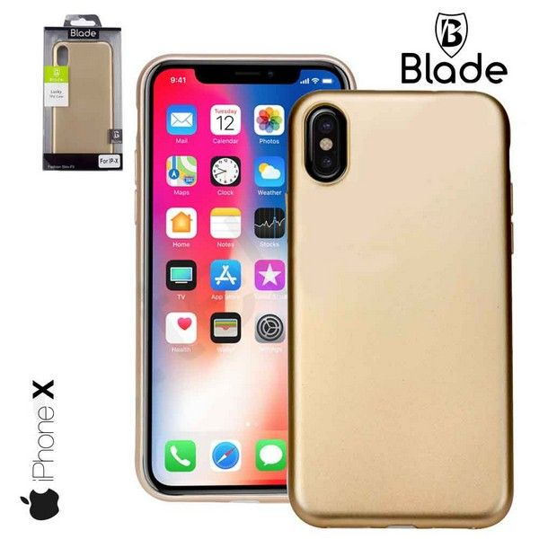 iPhone X Cover gold