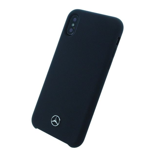 Iphone X Cover - Mercedes Benz - Silicone Fiber