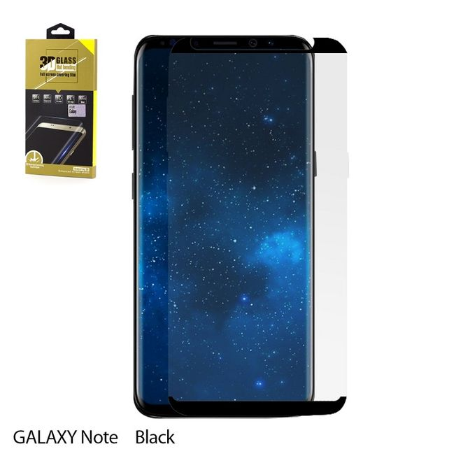 Samsung Note 9 - Glasfolie curved black