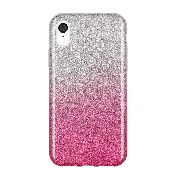 Iphone XR - Wozinsky Glitzer Case rose/ silber