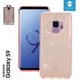 Samsung S9 - Glitzer Cover in rose