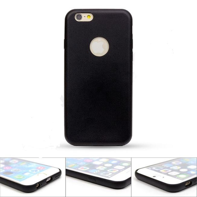 Iphone 6/6s - TPU Cover black Lederdesign