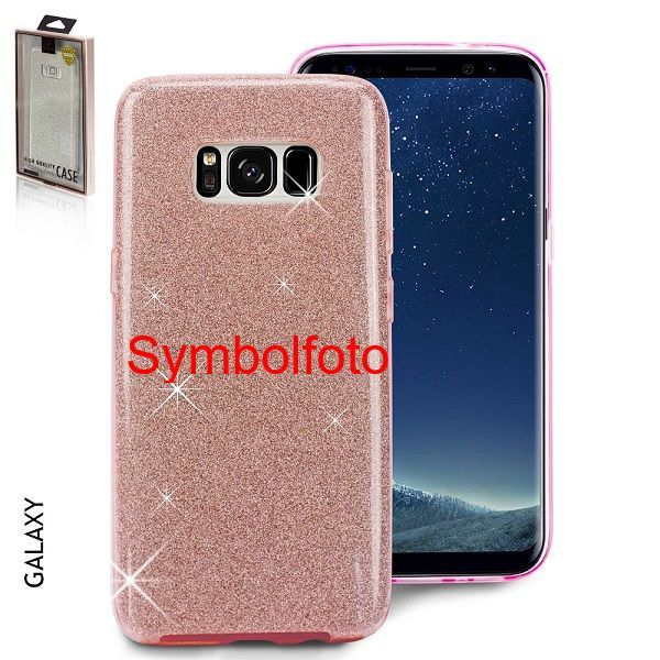 Samsung S10 - Glitzer Cover 3in1 pink