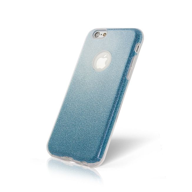 Iphone 7+/ 8+ Glitter Case blau