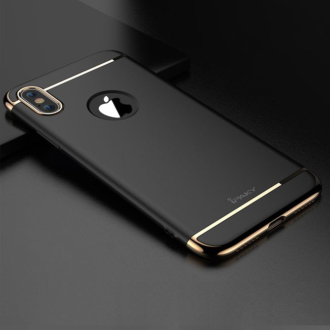 Iphone X Ipaki Cover 3in1 black/gold