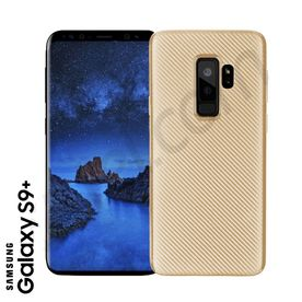 Samsung S9+ - TPU Cover Carbonlook gold
