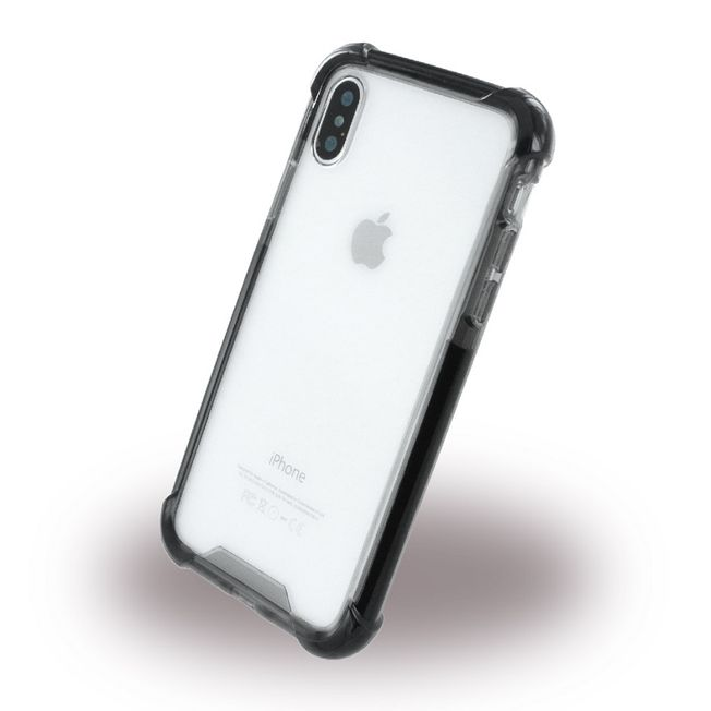 Iphone X - Case transparent/ black
