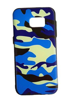 Samsung S7edge - Army Cover - blau
