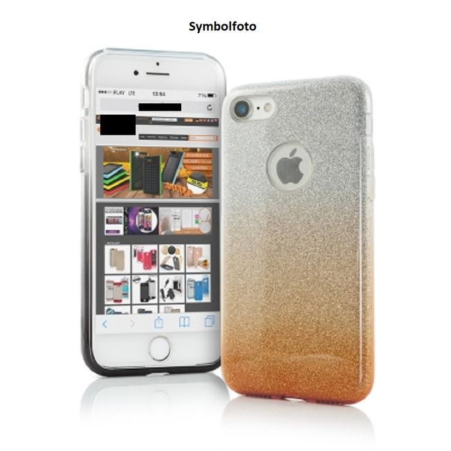 Iphone 7 - TPU Cover gold/ silber